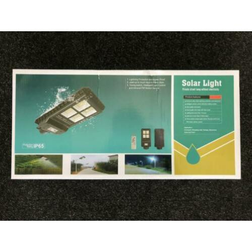 Solar light / led power 60W / NIEUW IN DOOS