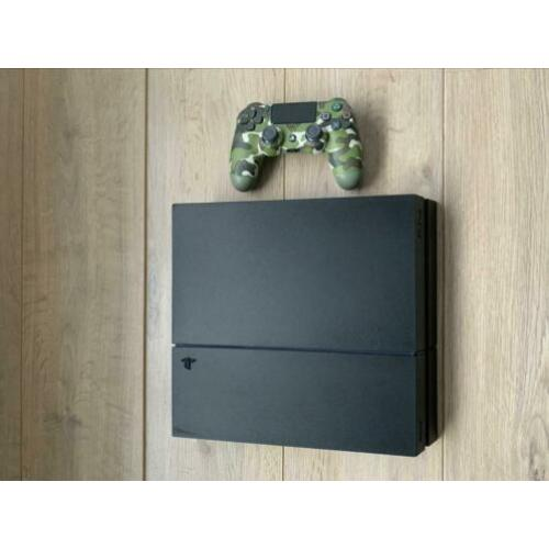 Playstation 4 Slim, 1500 GB + controller + nieuwe headset